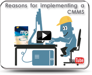 The video shows the benefits of implementing a CMMS as the MP version 9