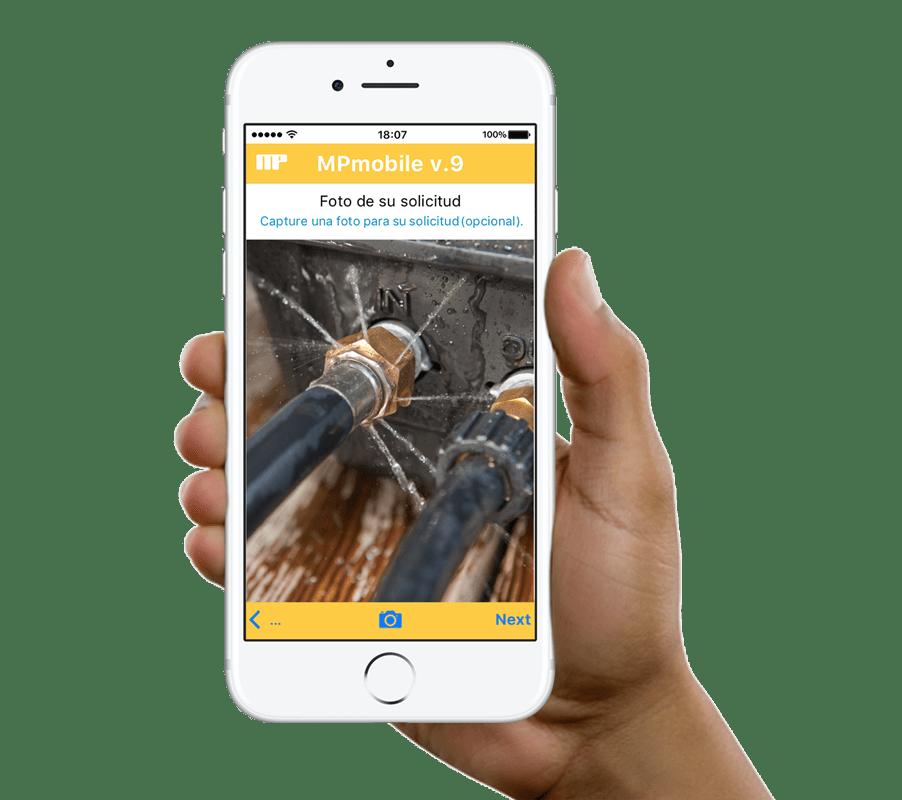 Envía solicitudes de mantenimiento a tu CMMS desde cualquier dispositivo móvil con MPmobile.